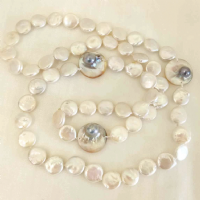 "36""Disc pearls with featured Mabe pearls"